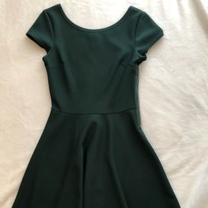 Fit and Flare Dark Green Dress